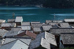 須賀利の家々の屋根(2018年11月中旬)